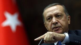 O primeiro-ministro turco Recep Tayyip Erdogan