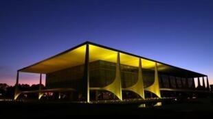 Palácio presidencial do Planalto em Brasília.