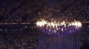 La flamme des Jeux paralympiques 2012.