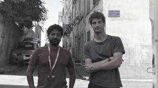 "Co-founders of ""Disclose"" Geoffrey Livolsi and  Mathias Desta in Perpignan, 6 September 2019"