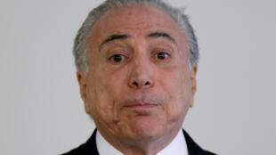 O presidente do Brasil, Michel Temer