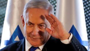 Le Premier ministre israélien Benyamin Netanyahu au Tombeau des patriarches à Hébron, le 4 septembre 2019.