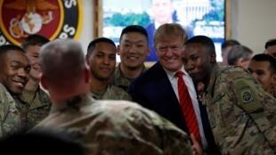 Tổng thống Trump đến thăm các binh sĩ Mỹ tại Afghanistan ngày 28/11/2019.