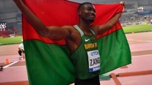 Le Burkinabè Hugues Fabrice Zango est médaillé de bronze des Mondiaux d'athlétisme 2019 sur triple saut.