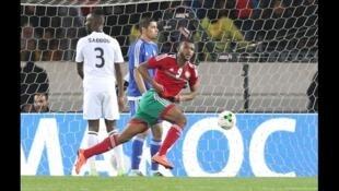 Le Marocain Ayoub El Kaabi a frappé deux fois en demi-finale du CHAN 2018, face à la Libye.