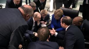 سران کشورهای اروپایی در کنفرانس صلح لیبی در برلین