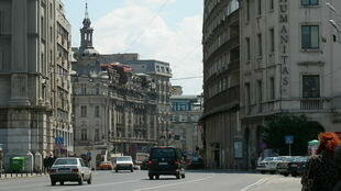 Le centreville de Bucarest, capitale de la Roumanie.