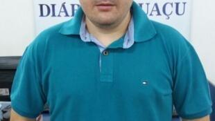 O repórter esportivo Rodrigo Goulart