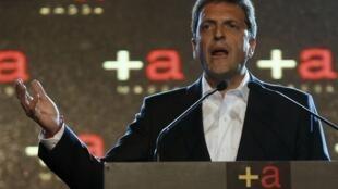 Discurso de Sergio Massa tras los resultados de las elecciones, este 27 de octubre en Buenos Aires.