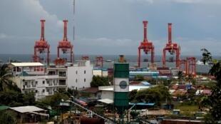 Cảng Sihanoukville, Cam Bốt. Ảnh chụp ngày 28/09/2017.