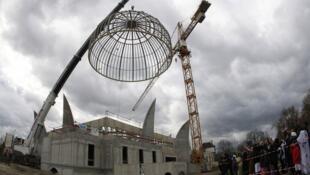 Новая мечеть Страсбурга во время строительства