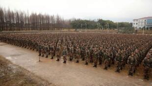 圖為疑似解放軍東部戰區陸航部隊集結圖