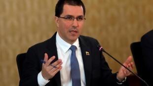 Le ministre des Affaires étrangères vénézuélien Jorge Arreaza accuse Ivan Duque de «criminaliser l'immigration vénézuélienne»
