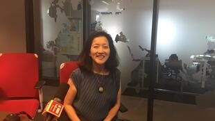 La romancière Maïko Kato en studio à RFI (juillet 2019).