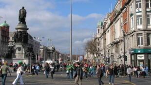 Une vue de Dublin, capitale de l'Irlande.