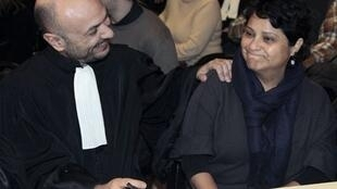 Lawyer Richard Malka (L) with Baby Loup creche boss Natalia Baleato in 2010