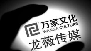 圖為中國官方媒體報導龍薇收購萬家案的配圖