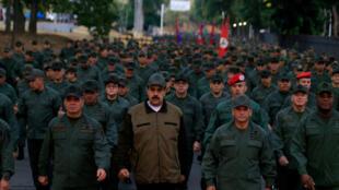 Tổng thống Venezuela Nicolas Maduro dự một buổi lễ ở căn cứ quân sự tại Caracas, ngày 2/05/2019.