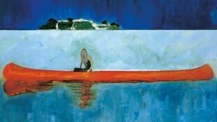 """""""100 Years Ago (Carrera)"""", tela realizada entre  2005 e 2007 por Peter Doig."""