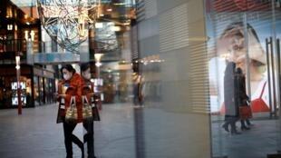 疫情中北京街頭資料圖片