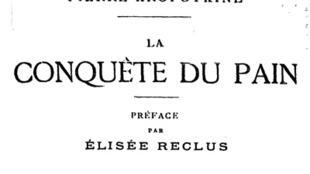 Détail du livre « La conquête du Pain » de l'anarcho-communiste Pierre Kropotkine, dont le titre a donné son nom à la boulangerie.