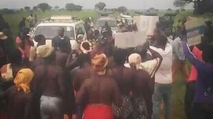 Women strip naked in protest at government land survey in Amuru district, Northern Uganda