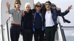 Los Rolling Stones a su llegada a La Habana, este 24 de marzo de 2016.