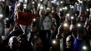 Массовая демонстрации возле резиденции премьер-министра в Валлетте (Мальта) 29 ноября 2019 г.