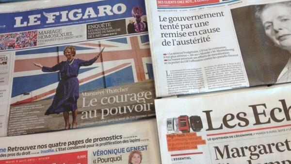 Primeiras páginas diários franceses 9/4/2013