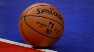 General view of NBA ball during a game between the Milwaukee Bucks and Detroit Pistons in February. The league has temporarily suspended its season after a Utah Jazz player tested positive for COVID-19