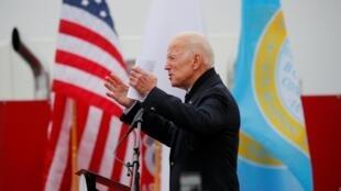 Cựu phó tổng thống Mỹ Joe Biden phát biểu tại một cuộc mít tinh ở Boston, Massachusetts, ngày 18/04/2019.