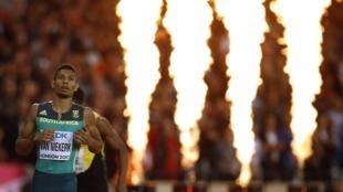 Wayde van Niekerk has won three gold medals in three years in Beijing, Rio and London.