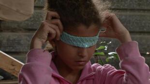 Amal, the heroine in Stefano Savona's documentary Samouni Road, Quinzaine des Réalistaeurs 2018
