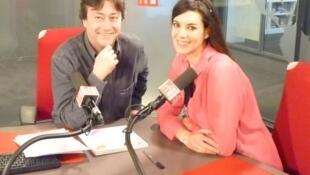 Patricia Miani con Jordi Batallé en nuestros estudios