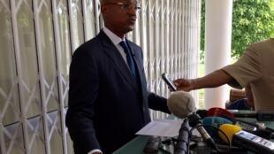Cellou Dalein Diallo, à son domicile, le 17 octobre 2015.