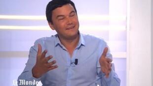 Economista Thomas Piketty em entrevista à TV do Le Monde.