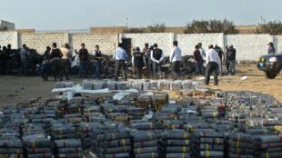 La police péruvienne a effectué une saisie historique de cocaïne à Trujillo, dans le nord du pays, le 26 août 2014.t