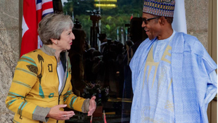 Theresa May ta Birtaniya da  Muhammadu Buhari na Najeriya a Abuja