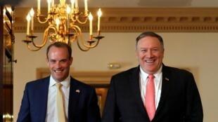 英國外交大臣拉布與美國國務卿蓬佩奧,2019年8月7日華盛頓