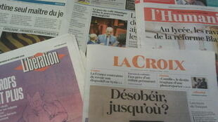 Primeiras páginas dos jornais franceses 16 de outubro de 2019