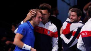 Lucas Pouille crucial in France's Davis Cup win