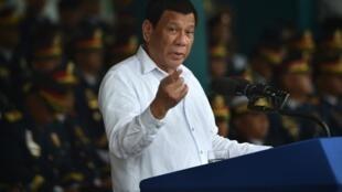 Rodrigo Duterte, August 8th in Manila