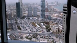 Vue aérienne de Koweït City, depuis l'immeuble al-Safat photo d'illustration).