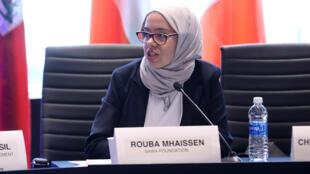 Rouba Mhaissen, lauréate du prix Rafto des droits de l'homme.
