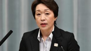 La Japonaise Seiko Hashimoto, ministre des Jeux olympiques et paralympiques 2020.