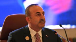La ministre des Affaires étrangères de Turquie, Mevlut Cavusoglu, à Jeddah, en Arabie saoudite, le 29 mai 2019.