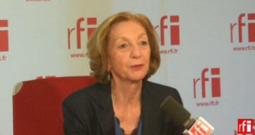 Nicole Bricq in RFI's studios.