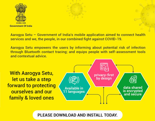 Aarogya Setu, India's main contact tracing app, was launched on 2 April.