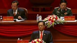 Thủ tướng Nguyễn Tấn Dũng tại lễ khai mạc Đại hội Đảng Cộng sản Việt Nam lần thứ 12 ở Hà Nội ngày 21/01/ 2016.
