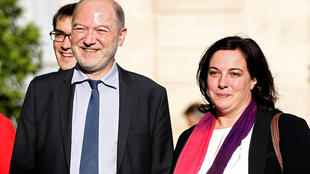 Denis Baupin y su esposa Emmanuelle Cosse, septiembre de 2015.